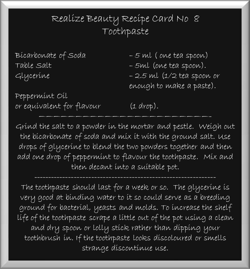toothpaste recipe