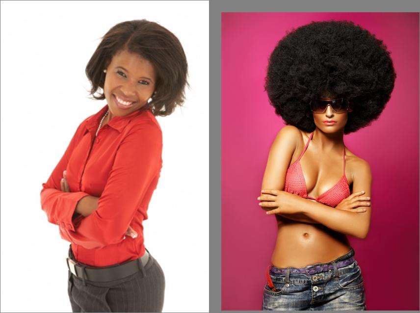 black straight white afro