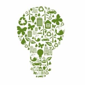 Think Green by Clipart
