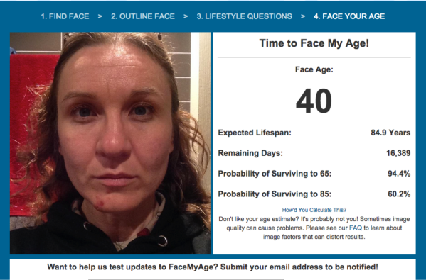 Face my age 40