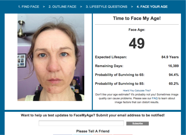 Face my age 49