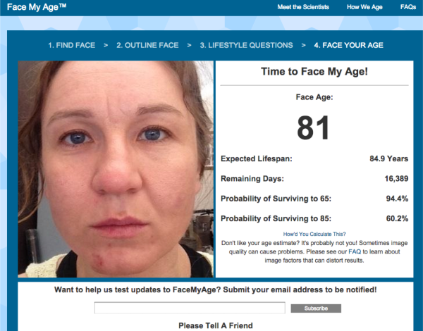 Face my age 81