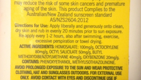 SUNSCREEN INGREDIENTS